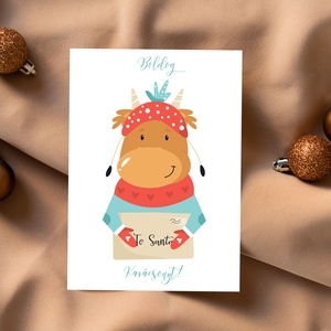 Állatos karácsonyi képeslap, ajándékkísérő, Karácsony, Fotó, grafika, rajz, illusztráció, Papírművészet, Meska