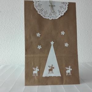 Ajándék átadó zacskó, Otthon & lakás, NoWaste, Bevásárló zsákok, zacskók , Papírművészet, Nézd, ezeket az ajándékzacskókat. Akár névnapra, akár szülinapra, de Karácsonyra is rejthetsz bele a..., Meska