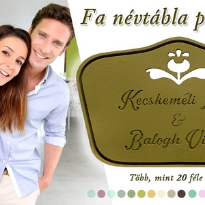 Családi vagy páros névtábla (kucserjavaolga) - Meska.hu