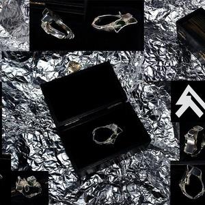 Swah, Vékony gyűrű, Gyűrű, Ékszer, Ékszerkészítés, Ötvös, Au 585 ~  0.08gramm\nAg 925 ~ 9.85gramm\nSwarovski k. ~0.16 gramm\nHordható gyűrűmėret ~5.6cm\n  + Egyed..., Meska