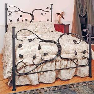 Kovácsoltvas level mintás  ágy., Bútor, Otthon & lakás, Lakberendezés, Ágy, Fémmegmunkálás, Megrendelhető a képen látható kézzel készített kovácsoltvas ágy, de egyedi elképzelés alapján is gyá..., Meska
