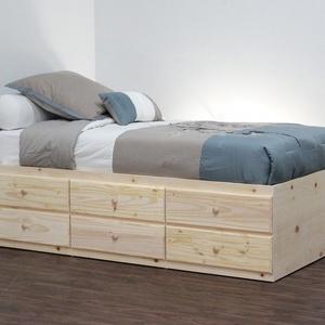 Fenyő ágy, 6db fiókkal., Bútor, Otthon & lakás, Ágy, Famegmunkálás, Fenyő ágy, 6db fiókkal.\n\nEgyedi elképzelés alapján is gyártunk ágyat.\n\nÁgyat csak megrendelésre kész..., Meska