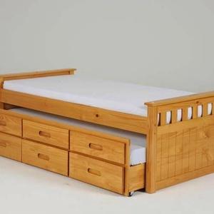 Fenyő ágy, 3db fiókkal +vendégággyal. (kulonlegesvasak) - Meska.hu