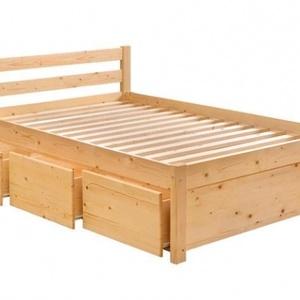 Fenyő ágy, 3db fiókkal., Bútor, Otthon & lakás, Ágy, Famegmunkálás, Fenyő ágy, 3db fiókkal.\n\nEgyedi elképzelés alapján is gyártunk ágyat.\n\nÁgyat csak megrendelésre kész..., Meska