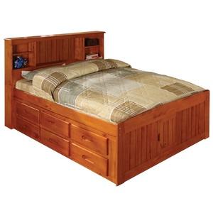 Fenyő ágy, 6db fiókkal, polcal. (kulonlegesvasak) - Meska.hu