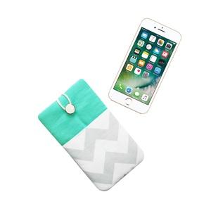 """Slide 5\"""" - Chevron - Textil Mobil Tok, Táska, Táska, Divat & Szépség, Pénztárca, tok, tárca, Mobiltok, Varrás, Univerzális 5\""""-os mobiltok.\n\nNagyon vidám, nőies, feltűnő darab! Finom, puha minőségi textilből kész..., Meska"""