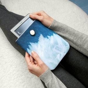 """JÉGVIRÁG 6\"""" -  Textil Kindle / E-book tok, Táska, Táska, Divat & Szépség, Pénztárca, tok, tárca, Varrás, Ugye Te is vigyázol, hogy ne sérüljön, karcolódjon össze a géped? Legnagyszerűbb megoldás egy ilyen ..., Meska"""