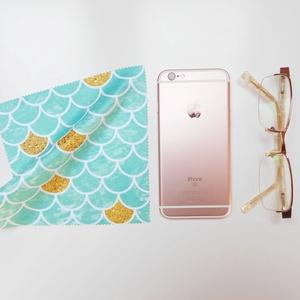 HABLEÁNY mintás vastag anyagú mikroszálas törlőkendő szemüvegre, mobiltelefonra, tabletre - Meska.hu