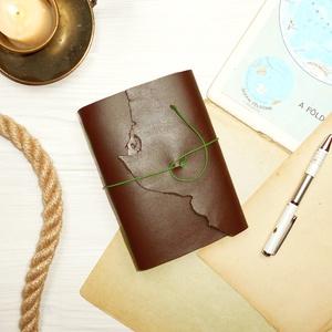 ' Viking ' Antik Bőr Napló / Journal A6 MÉRETŰ - Szimbólummal, Égetett első lappal (kunbea) - Meska.hu