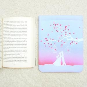 LOVEBIRDS - Könyv Védő Tok, Könyvölelő, Könyvvászon - VÁLASZTHATÓ MÉRET!, Otthon & Lakás, Papír írószer, Varrás, Meska