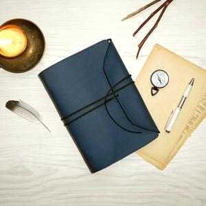 \' ODIN \' Műbőr Napló - VALKNUT Viking szimbólummal, Otthon & Lakás, Papír írószer, Jegyzetfüzet & Napló, Bőrművesség, Könyvkötés, Garantálom, hogy imádni fogsz írni ebbe a naplóba!\n\nA napló első oldalán a VALKNUT Viking szimólumma..., Meska