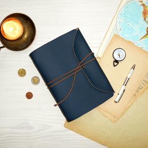 ' Viking ' Műbőr Napló A5 - Szimbólummal, Otthon & Lakás, Papír írószer, Jegyzetfüzet & Napló, Bőrművesség, Könyvkötés, Meska