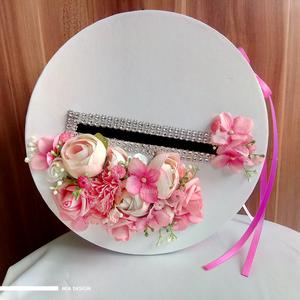 Egyedi rózsaszín-fehér esküvői pénzgyűjtő doboz, Nászajándék, Emlék & Ajándék, Esküvő, Mindenmás, Virágkötés, EGYEDI ESKÜVŐI PÉNZGYŰJTŐ DOBOZT KERESTEK? \n\nEz a romantikus rózsaszín-fehér színvilágú pénzgyűjtő d..., Meska