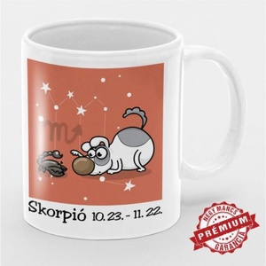 Horoszkópos kutyás bögre - Skorpió - otthon & lakás - konyhafelszerelés - bögre & csésze - Meska.hu
