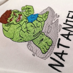 Hímzett névvel és Hulk mintával ellátott, 100% pamut body, Ruha & Divat, Babaruha & Gyerekruha, Body, Hímzés, Gyermek nevével és Hulk mintával ellátott, fehér, 100% pamut body\nRendelésed alkalmával tudod nekem ..., Meska