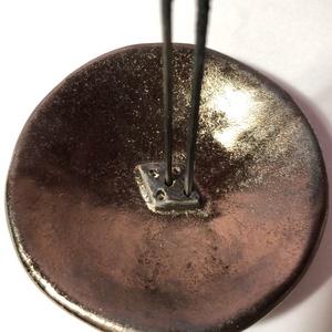 Egyedi bronz füstölőtartó tányérka, Otthon & Lakás, Kerámia, Meska