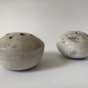 Fehér-szürkés Ikebana váza (KVicky) - Meska.hu