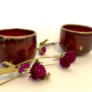 Tűz piros  effektes espresso pohárka, Otthon & Lakás, Indítsd a reggeled egy jó feketével! ☺️ A tűz piros effektmáznak köszönhetően játékos szín köszön vi..., Meska