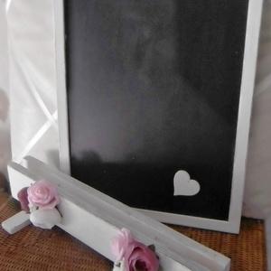 Vintage esküvői tábla - írható tábla - jelzőtábla - esküvői ültető tábla (KyBarbi) - Meska.hu