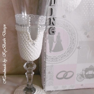 Esküvői pohár szett - Pezsgős pohár -  esküvői pohár - Festett pohár (KyBarbi) - Meska.hu