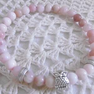 AKCIÓ! Rózsaopál (pink opál) karkötő - ásvány karkötő (KyBarbi) - Meska.hu