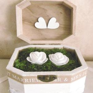 AKCIÓ! Esküvői gyűrűtartó doboz - gyűrűs doboz - Esküvői kellék - Gyűrűtartó (KyBarbi) - Meska.hu