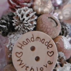 Manós szőrmés asztaldísz - karácsonyi dekoráció - karácsonyi manó - szőrmés asztaldísz (KyBarbi) - Meska.hu