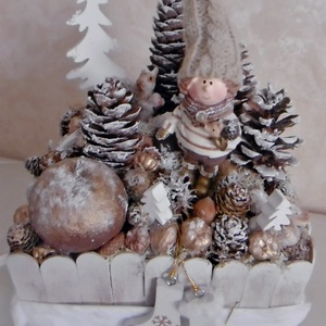 Karácsonyi asztaldísz - Téli hangolódás - Havas erdő (KyBarbi) - Meska.hu