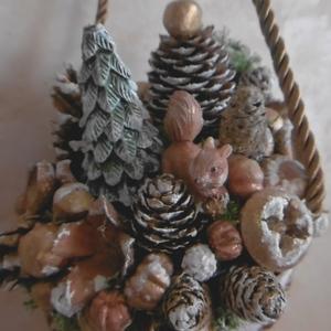 Karácsonyi tölcsér - karácsonyi dekoráció - ünnepi dísz - ajtódísz (KyBarbi) - Meska.hu