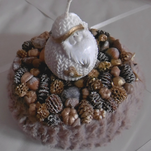Manós asztaldísz - karácsonyi dekoráció - szőrmés asztaldísz (KyBarbi) - Meska.hu
