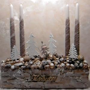 Síparadicsom - Adventi asztaldísz - Karácsonyi dekoráció (KyBarbi) - Meska.hu
