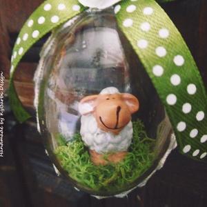 Legelésző báránykák - húsvéti bárány - húsvéti tojás báránykával - tojásba rejtett bárányka (KyBarbi) - Meska.hu