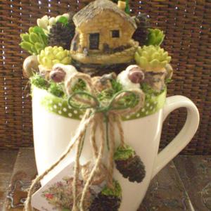 Naturel - Tavaszi asztaldísz - Greenery (KyBarbi) - Meska.hu