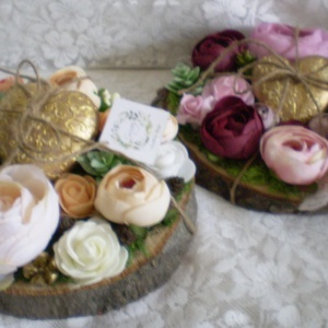Mauve and gold -  Asztaldísz - Tavaszi asztaldísz - Virágos asztaldísz (KyBarbi) - Meska.hu