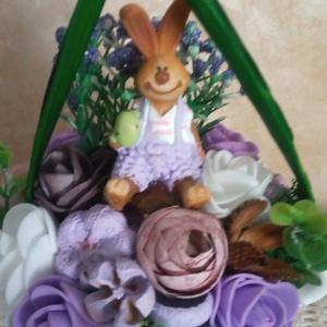 Tavaszi asztaldísz nyuszival - húsvéti dekoráció - asztaldísz (KyBarbi) - Meska.hu