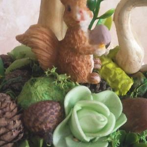 Tavaszi asztaldísz mókussal  (KyBarbi) - Meska.hu