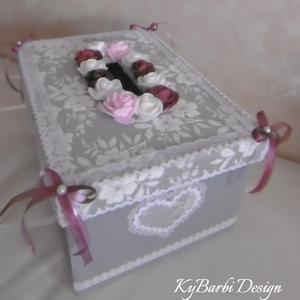 Nászajándék gyűjtő láda - sorsjegy gyűjtő, boríték gyűjtő doboz - esküvői kellék , Esküvő, Esküvői dekoráció, Mérete: 31x21x16 cm, Meska