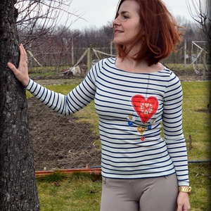 Csíkos szív (KykDesign) - Meska.hu