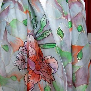 Art Deco - kézzel festett selyemsál (KykDesign) - Meska.hu