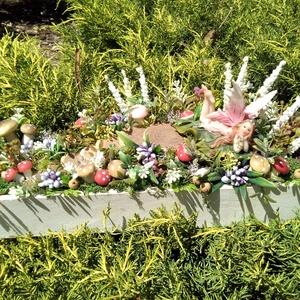Tündérkert , Otthon & Lakás, Dekoráció, Asztaldísz, Virágkötés, 35x10x16 méretű asztaldísz vagy ajándéktárgy. , Meska