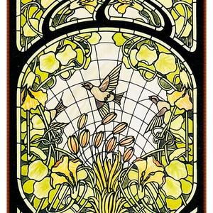 Díszüveg, Lakberendezés, Otthon & lakás, Üvegművészet, Antik stílusú üvegkép. A festékréteget beleégetem az üvegbe, ez tartós, időtálló nyomatot eredményez..., Meska