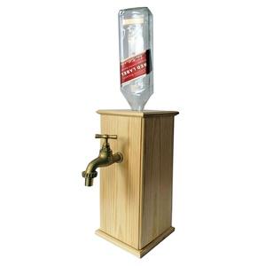 Fa dobozos ital adagoló és tartó, Otthon & Lakás, Konyhafelszerelés, Bortartó, Fémmegmunkálás, Fa és fém alkatrészekből összeszerelt működő italtartó-és adagoló.\nAlkotórészek és méretek:\ngyönyörű..., Meska