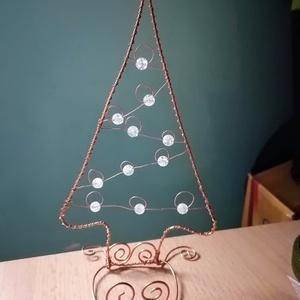 Karácsonyi mécsestartó, Karácsony & Mikulás, Karácsonyi dekoráció, Fémmegmunkálás, Roppantott hegyikristállyal díszített mécsestartó. Egyedi dísze lehet a karácsonyi asztalnak.\n..., Meska