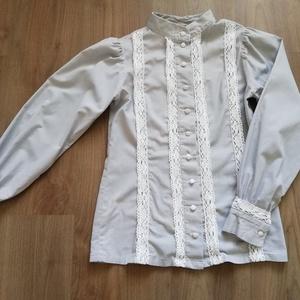 Nyírségi viselethez készült hosszú ujjú blúz, Blúz, Női ruha, Ruha & Divat, Varrás, Egyeztetés alapján, egyéni méretezéssel, más anyagból és más mintávl is kérhető., Meska