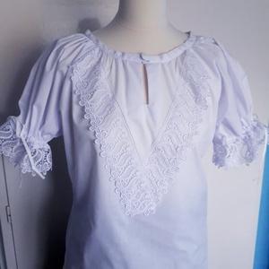 Parasztblúz, Blúz, Női ruha, Ruha & Divat, Varrás, Egyeztetés alapján, más méretezéssel és díszítéssel is kérhető. , Meska