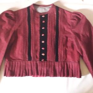 Bársony népviseleti kabát (bélelt), Kabát, Női ruha, Ruha & Divat, Varrás, Bársony népviseleti kabát. (bélelt)\nEgyeztetés alapján, egyéni méretezéssel, más anyagból, más mintá..., Meska