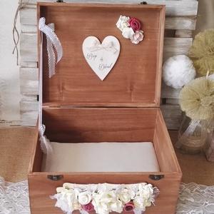 Nászajándék Rusztikus stílusú esküvőre pénzgyűjtő doboz pajta kártyagyűjtő doboz láda fadoboz, Esküvő, Emlék & Ajándék, Doboz, Festett tárgyak, Mindenmás, Szeretnétek magatokat felhőtlenül boldognak érezni az esküvőtökön? Ebben szeretnék Nektek segíteni e..., Meska