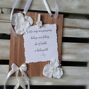 Szülőköszöntő ajándék esküvőre, Esküvő, Emlék & Ajándék, Szülőköszöntő ajándék, Festett tárgyak, Mindenmás, Sokszor van úgy, hogy szavakkal el sem tudjuk mondani, mit is érzünk pontosan... és általában ezek a..., Meska