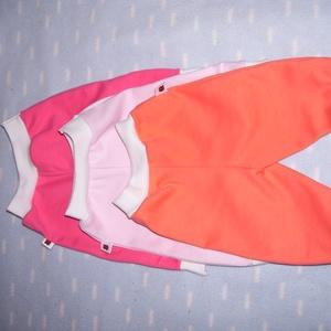 Egyszínű lányos bébi nadrág,   50-s méret, Táska, Divat & Szépség, Ruha, divat, Gyerekruha, Baba (0-1év), Varrás, Bőrbarát, 100% vastagabb pamutjersey anyagból készült, 4 részből szabott, boka és derékpasszés kivit..., Meska