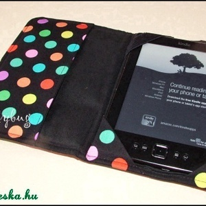 Kindle  tok - Színes pöttyös  (ladybug67) - Meska.hu